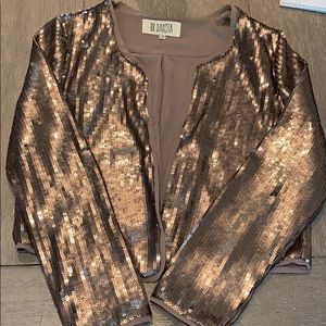 BB Dakota Bronze/Champagne Sequin Blazer, Med